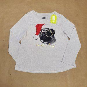 Crazy 8 Santa Pug T-Shirt 12-18M Beige